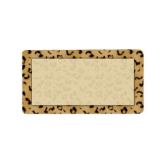 Etiquetas de dirección del estampado leopardo