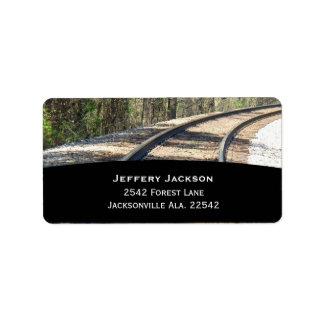 Etiquetas de dirección del ferrocarril