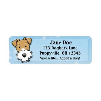 Etiquetas de dirección del fox terrier del alambre
