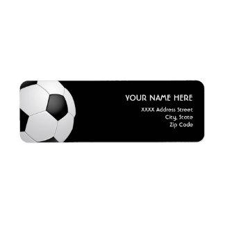 Etiquetas de dirección del fútbol