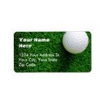 Etiquetas de dirección del golf