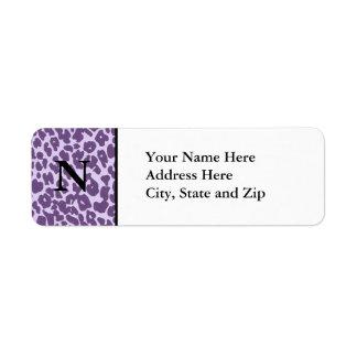 Etiquetas de dirección del guepardo (púrpuras)