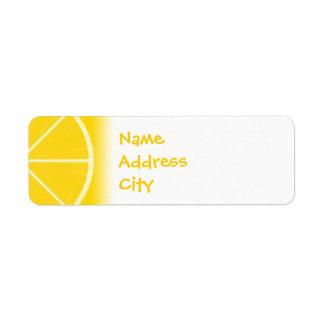 Etiquetas de dirección del limón