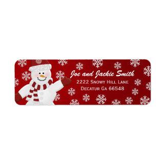 Etiquetas de dirección del muñeco de nieve