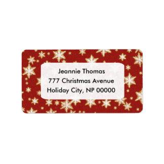 Etiquetas de dirección del navidad
