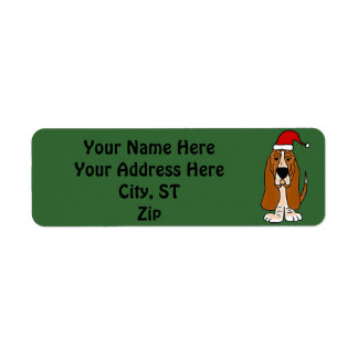Etiquetas de dirección del navidad de Basset