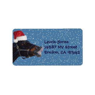 Etiquetas de dirección del navidad de la diversión