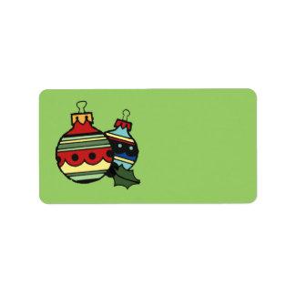 Etiquetas de dirección del navidad de las decoraci