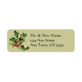 Etiquetas de dirección del navidad del vintage
