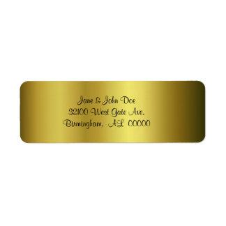 Etiquetas de dirección del oro
