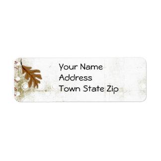 Etiquetas de dirección del otoño
