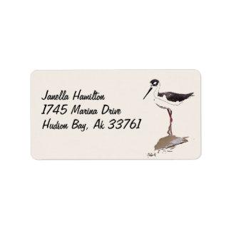 Etiquetas de dirección del pájaro del zanco de los