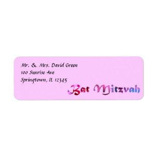 Etiquetas de dirección del PALO MITZVAH de la cons