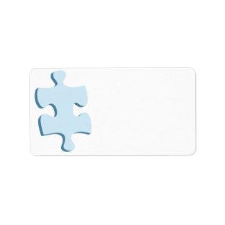 Etiquetas de dirección del pedazo del rompecabezas