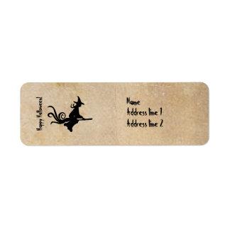 Etiquetas de dirección del pergamino de Halloween