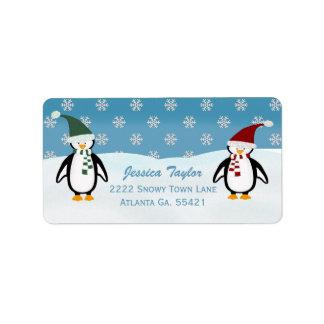 Etiquetas de dirección del pingüino