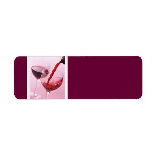 Etiquetas de dirección del vino rojo