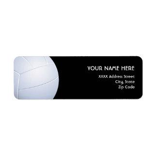 Etiquetas de dirección del voleibol