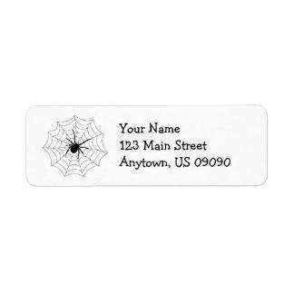 Etiquetas de dirección del Web de araña (negro)