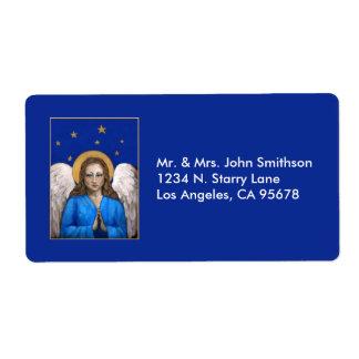 Etiquetas de dirección divinas del ángel