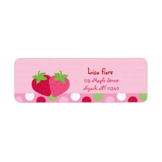 Etiquetas de dirección dulces de la fresa
