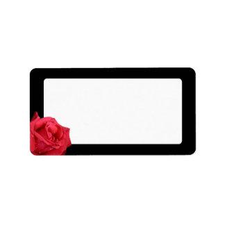Etiquetas de dirección elegantes del rosa rojo