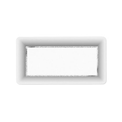 Etiquetas de dirección en blanco de plata