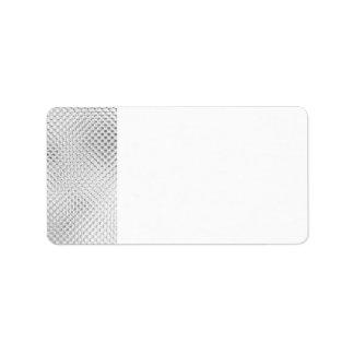 Etiquetas de dirección en blanco de plata de Bling