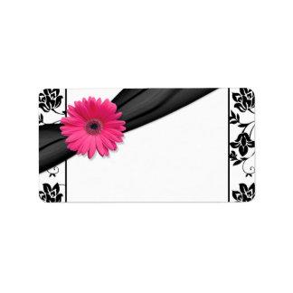 Etiquetas de dirección en blanco florales del boda
