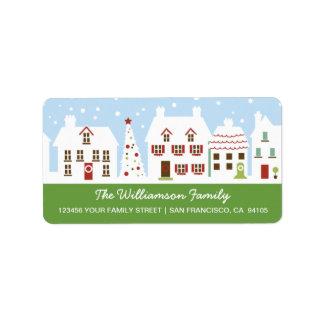 Etiquetas de dirección encantadoras de la vecindad