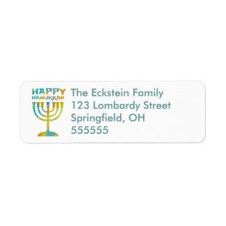 Etiquetas de dirección felices personalizadas de M