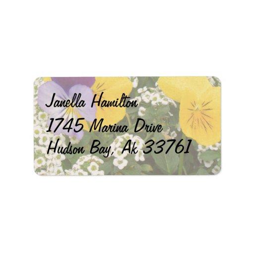 Etiquetas de dirección florales