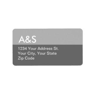 Etiquetas de dirección grises modernas