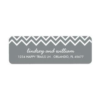 Etiquetas de dirección grises y blancas del boda