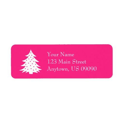 Etiquetas de dirección imperecederas del árbol de