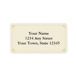 Etiquetas de dirección impresas personalizado - Ec