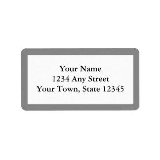 Etiquetas de dirección impresas personalizado - gr