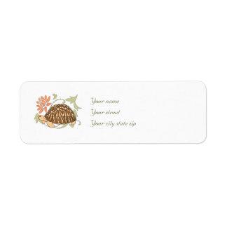 Etiquetas de dirección irradiadas de la tortuga