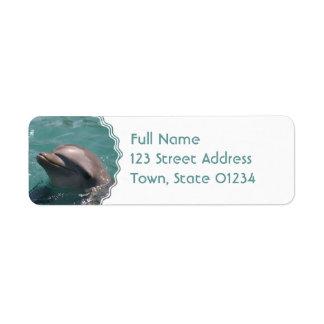Etiquetas de dirección lindas del delfín
