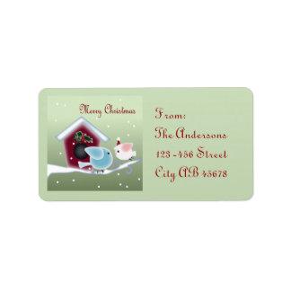 Etiquetas de dirección lindas del navidad de la