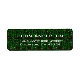 Etiquetas de dirección masculinas de las placas de