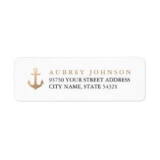 Etiquetas de dirección náuticas