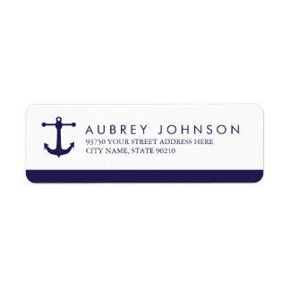 Etiquetas de dirección náuticas de la marina de
