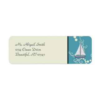 Etiquetas de dirección náuticas del velero