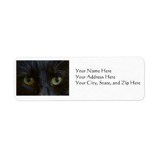 Etiquetas de dirección: Ojos de gato negro Etiquetas De Remite