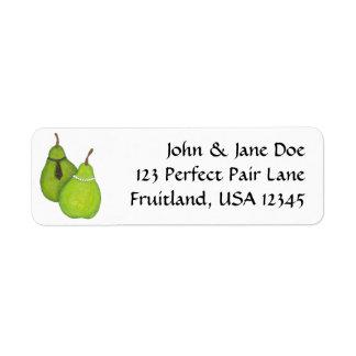 Etiquetas de dirección perfectas de los pares