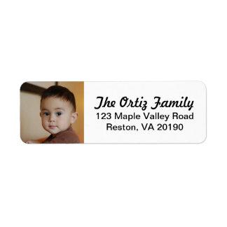 Etiquetas de dirección personalizadas de la foto