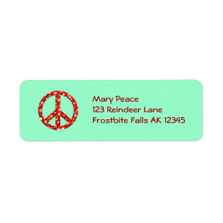 Etiquetas de dirección personalizadas de la paz