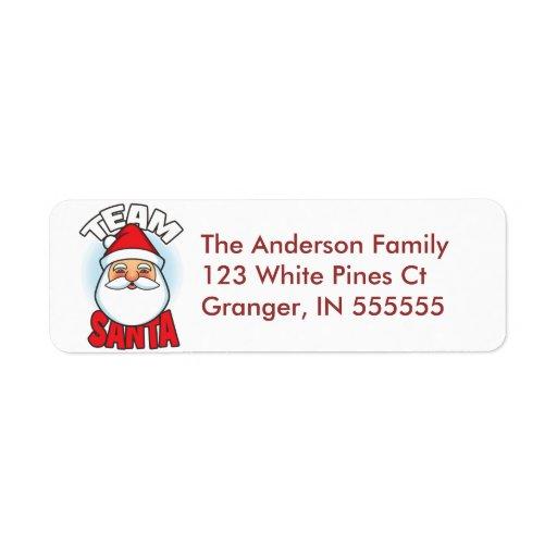 Etiquetas de dirección personalizadas de Santa del