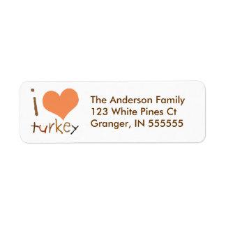 Etiquetas de dirección personalizadas de Turquía d